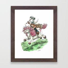Barbarian Unicorn Framed Art Print