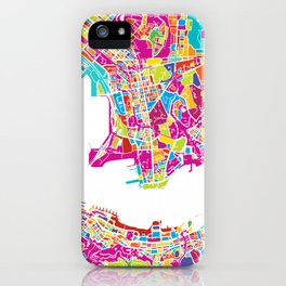 Hong Kong Colorful Map iPhone Case