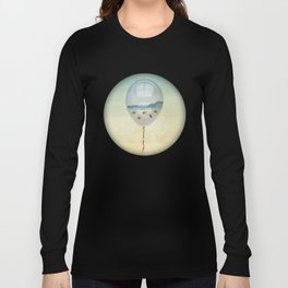 balloon fish o2, freedom in a bubble Long Sleeve T-shirt