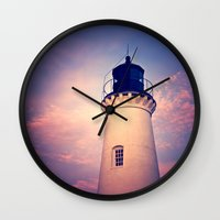 lighthouse Wall Clocks featuring Lighthouse by JMcCool
