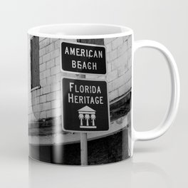American Beach Sign Coffee Mug