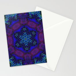 Bioluminescent Tribal Lotus Stationery Cards