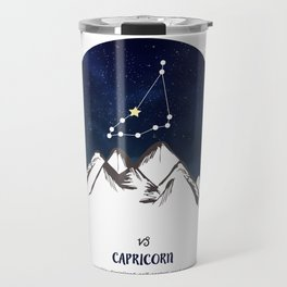 Astrology Capricorn Zodiac Horoscope Constellation Star Sign Watercolor Poster Wall Art Travel Mug