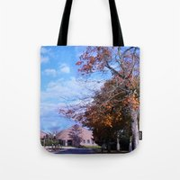 college Tote Bags featuring College by Vickyyyy