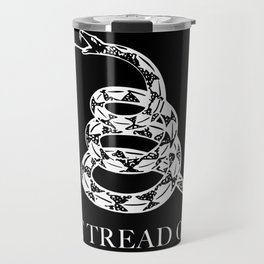 Don't Tread On Me Snake Flag, white snake version Travel Mug