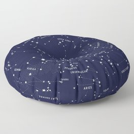 Constellation Map - Indigo Floor Pillow