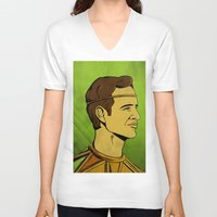 watchmen V-neck T-shirts featuring It's Always Sunny in Watchmen - Dennis by Jessica On Paper