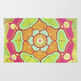 Magenta Lotus Mandala Rug