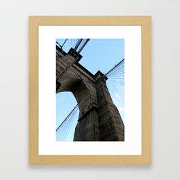 Brooklyn Bridge - Color Framed Art Print
