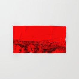 Red scenic beach digital painting | modern decoration art Hand & Bath Towel