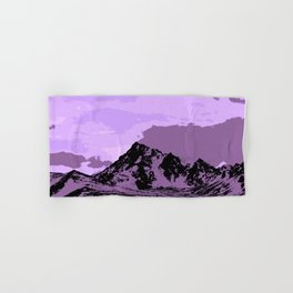 Chugach Mountains - EggPlant Pop Art Hand & Bath Towel