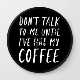 Coffee First Wall Clock