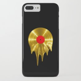 Melting vinyl GOLD / 3D render of gold vinyl record melting iPhone Case