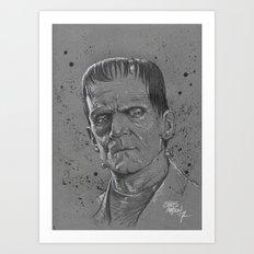Frankenstein Monster Art Print