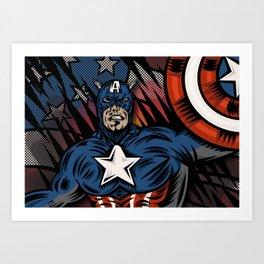 Captaino Americano Art Print