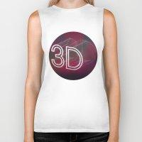 3d Biker Tanks featuring 3D by Andra Vlasceanu