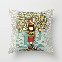 Deforestation Throw Pillow
