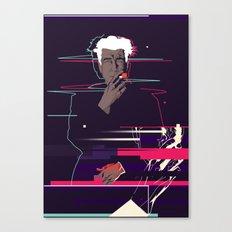 David Lynch - Glitch art Canvas Print