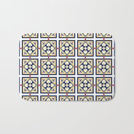 One night in Ponta Delgada Portuguese Tile Pattern Bath Mat