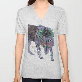 Journeying Spirit (wolf) Unisex V-Neck