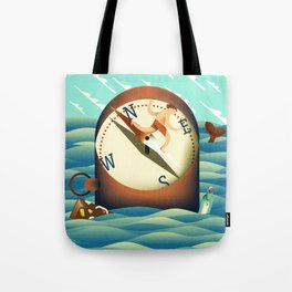 compass surfing Tote Bag