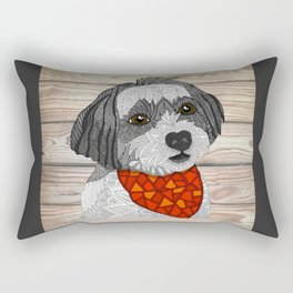 Max the Havanese Rectangular Pillow