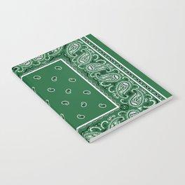 Classic Green Bandana Notebook
