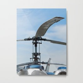 Helicopters are at the civil and military airfield Metal Print