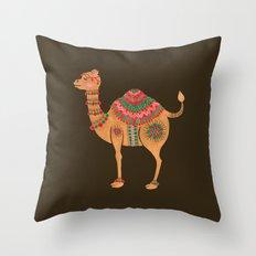 The Ethnic Camel Throw Pillow