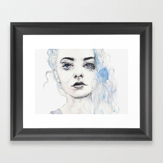 aquamarine freak Framed Art Print