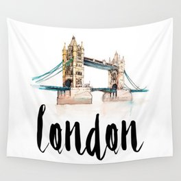 London watercolor Wall Tapestry