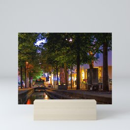 Laubach Laupheim by night Mini Art Print