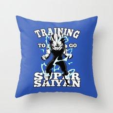 Training to go super saiyan Throw Pillow