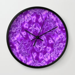Ultra Violet and White Fashion Design Wall Clock