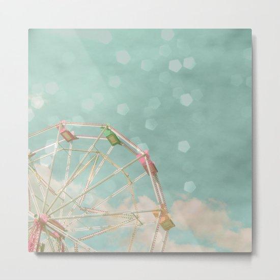 Candy Wheel Metal Print