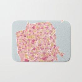 San Francisco map Bath Mat