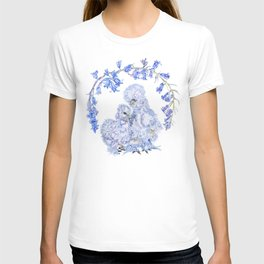 Silkie Chickens and Bluebells T-shirt