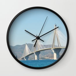 Rio Antirrio Bridge Wall Clock