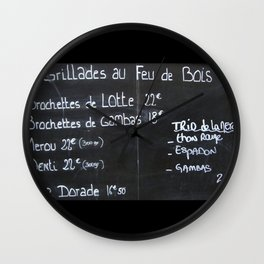 French menu Wall Clock