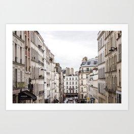 Montmartre View of Paris  Art Print