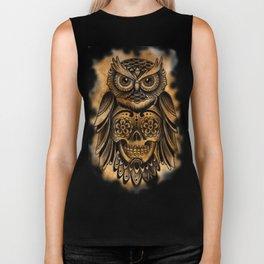 Owl Tattoo  Biker Tank