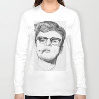 cigarette Long Sleeve T-shirts featuring James Cigarette by Omar Guzman