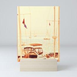 SAIL BOATS IN THE SAN FRANCISCO BAY - CALIFORNIA Mini Art Print