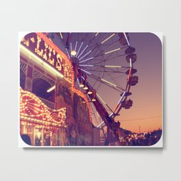 Midway Sunset Metal Print