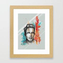 Philippe by carographic, Carolyn Mielke Framed Art Print
