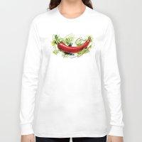vietnam Long Sleeve T-shirts featuring Vietnam Chilli by Vietnam T-shirt Project