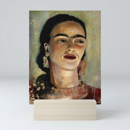 Portrait of Frida the Dove Mini Art Print