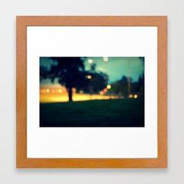 an evening in june Framed Art Print