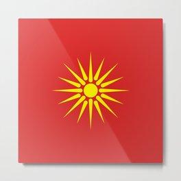 old Macedonia country flag Metal Print