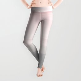 Touching Blush Gray Watercolor Abstract #4 #painting #decor #art #society6 Leggings